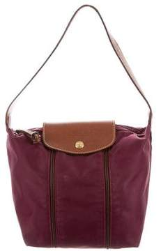 Longchamp Leather-Trimmed Nylon Bag