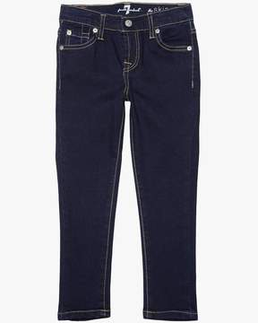 7 For All Mankind Girls 4-6X The Skinny in Rinsed Indigo