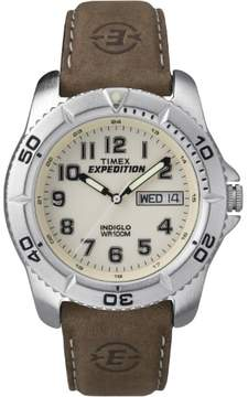 Timex Corporation Expedition Mens Traditional Silver/Brown T46681