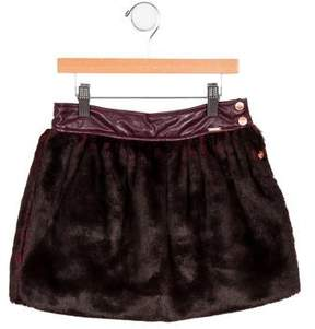 Junior Gaultier Girls' Faux Fur Skirt w/ Tags