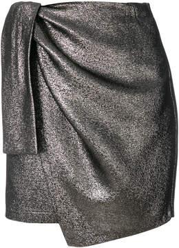 Amen draped asymmetric mini skirt