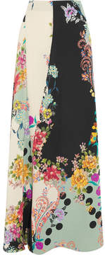 Etro Printed Silk Maxi Skirt - Off-white