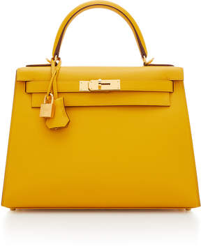 Hermes Vintage by Heritage Auctions 28cm Jaune Ambre Epsom Leather Sellier Kelly