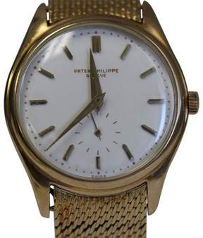 Patek Philippe 2526 18K Yellow 1st Automatic Porcelain Dial Mens Watch