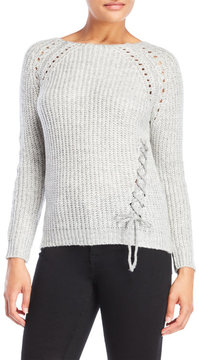 Cliche Lace-Up Side Sweater
