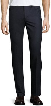 Luciano Barbera Wool Slim Trousers, Navy