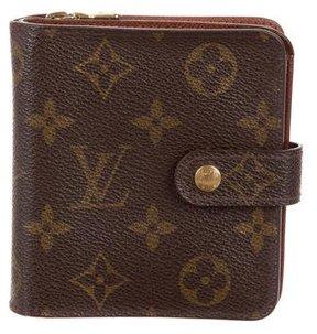 Louis Vuitton Monogram Compact Zippé Wallet - BROWN - STYLE