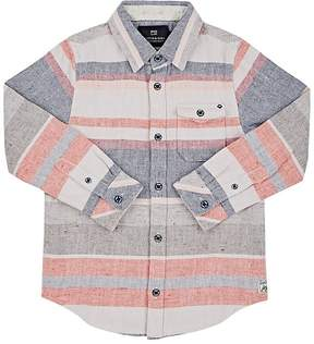 Scotch Shrunk Kids' Striped Cotton Slub-Canvas Shirt