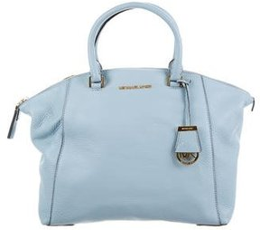 Michael Kors Medium Bedford Satchel - BLUE - STYLE
