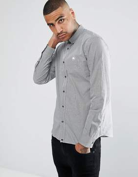 Pretty Green Long Sleeve Gingham Shirt In Black