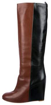 Celine Leather Wedge Boots
