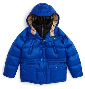 Burberry Boy's Petter Hooded Down Puffer Jacket
