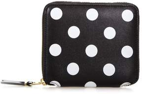 Comme des Garcons Small Black & White Podka Dots Print In Leather