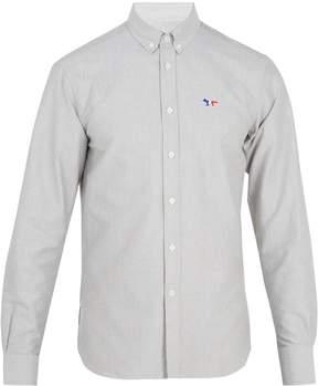 MAISON KITSUNÉ Logo-embroidered cotton shirt