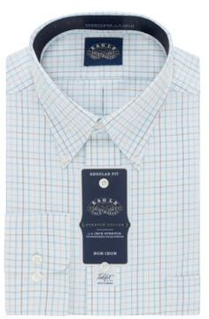 Eagle Grid Printed Cotton Dress Shirt