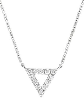 Bony Levy Women's Diamond Pave Triangle Pendant Necklace (Nordstrom Exclusive)