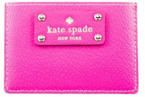 Kate Spade Leather Logo Cardholder - NEUTRALS - STYLE