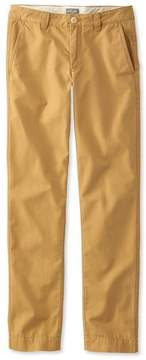 L.L. Bean L.L.Bean Signature Washed Canvas Cloth Pants, Slim Straight