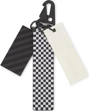 Off-White Mens Black & White Luxe Hologram Keyring