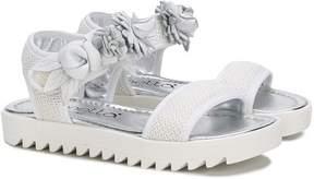 Simonetta floral appliqué sandals