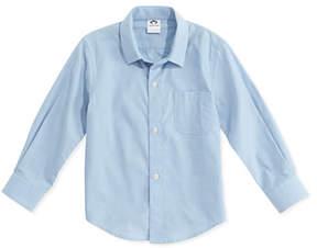 Appaman Boys' Poplin Button-Down Shirt, Blue, 2T-14