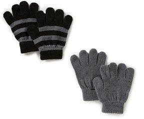 Class Club 2-Pack Solid/Stripe Glove Set