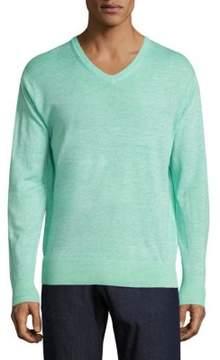 Peter Millar Crown Wool & Linen Heathered Pullover