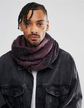 Asos Oversized Infinity scarf In Purple And Black