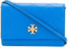 Tory Burch small debossed crossbody bag - BLUE - STYLE