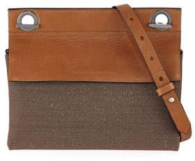Brunello Cucinelli Leather and Monili Shoulder Bag