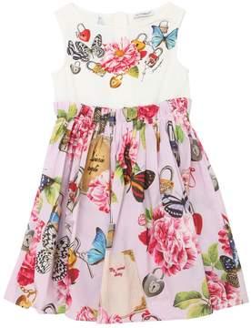 Dolce & Gabbana Butterfly Cotton Poplin & Jersey Dress