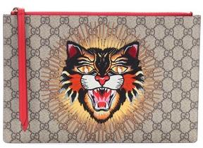 Gucci GG Supreme embroidered pouch - MULTICOLOURED - STYLE