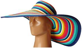 San Diego Hat Company UBX2721 Striped Floppy 8 Inch Brim Sun Hat Caps