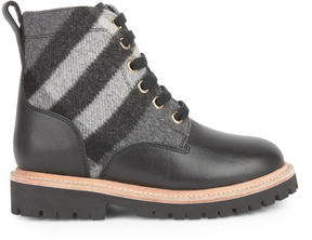 Burberry Fur-lined leather ankle boots