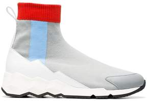 Pierre Hardy grey Flash Comet knitted sneakers