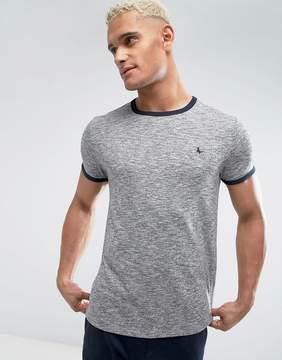 Jack Wills Baildon Ringer T-Shirt In Gray