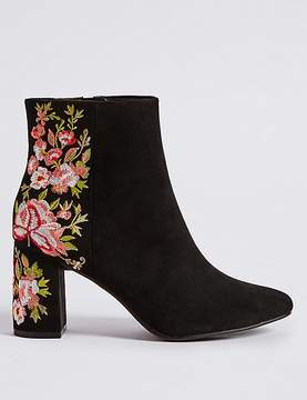 Marks and Spencer Block Heel Embroidered Ankle Boots