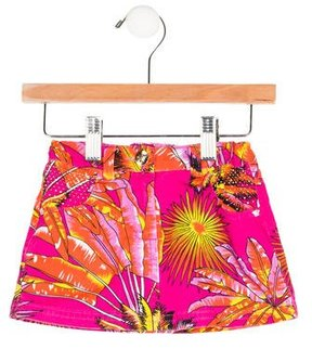 Versace Girls' Medusa-Accented Mini Skirt