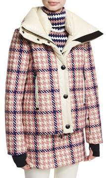 Moncler Flaine Houndstooth Hooded Jacket