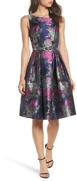 Eliza J Women's Jacquard Fit & Flare Dress