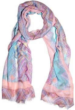Matthew Williamson Andean Artisan Pink Modal Cashmere Scarf