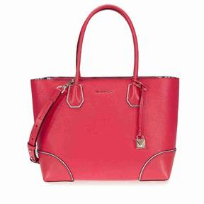Michael Kors Mercer Gallery Medium Leather Tote- Deep Pink - DEEP PINK - STYLE