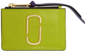 Marc Jacobs Green Top Zip Multi Coin Pouch