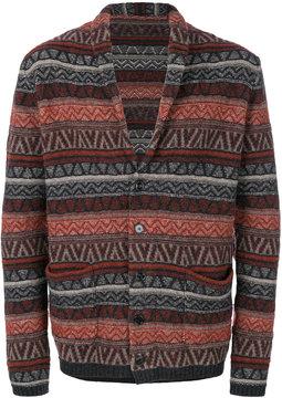 Lardini shawl collar intarsia cardigan