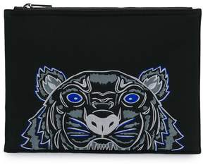 Kenzo tiger pattern clutch bag
