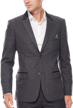 Asstd National Brand WD.NY Charcoal Twill Suit Jacket - Slim Fit
