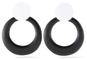 Kenneth Jay Lane Two-Tone Enamel Clip Earrings