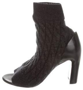 Maison Margiela Cable Knit Ankle Boots w/ Tags