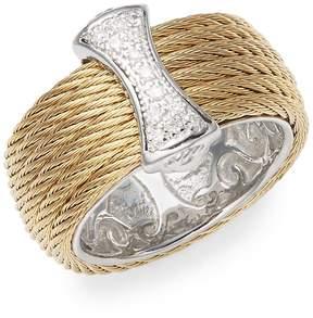 Alor Women's 18K Gold & Stainless Steel Diamond Band Ring