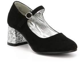 Kenneth Cole New York Girls' Crystal Ball May Jane Glitter Heel Dress Pumps